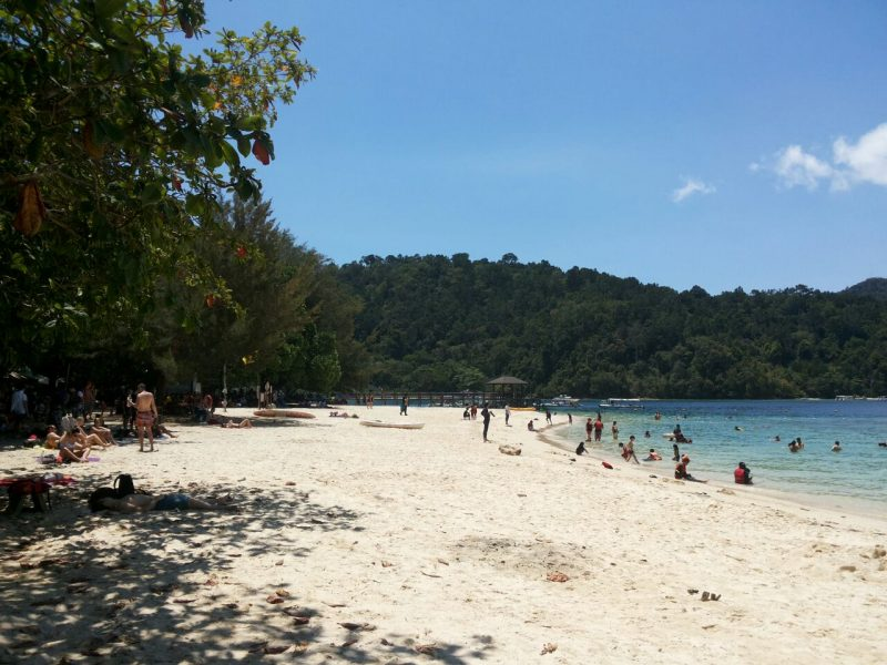 Sandy beach at island
