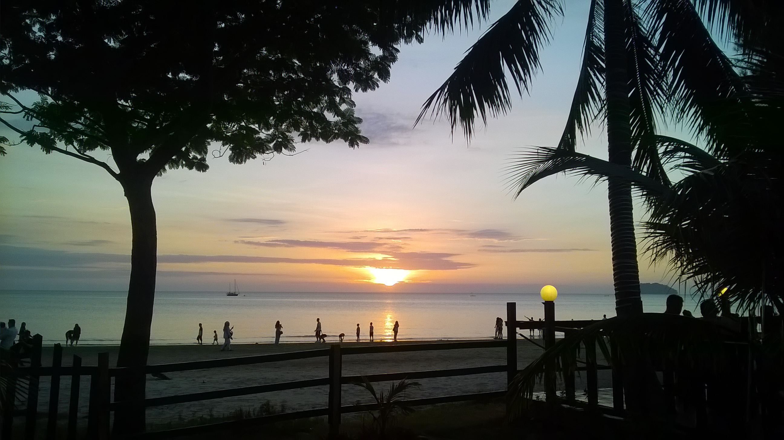 Sunset viewed from Tanjung Aru Kota Kinabalu