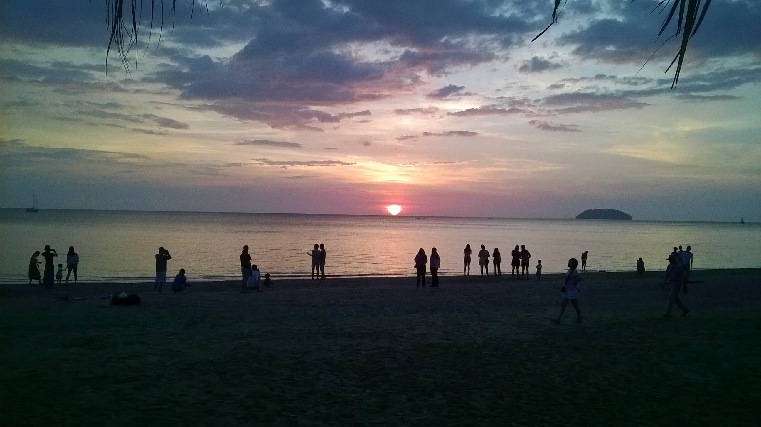 Travel to Sabah watching sunset